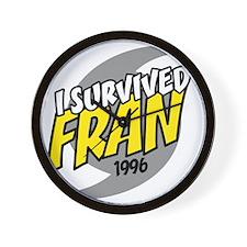 I Survived Fran Hurricane South Carolin Wall Clock