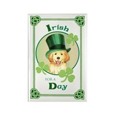 St. Patrick Golden Rectangle Magnet