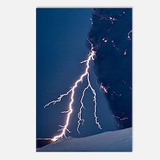 Volcanic lightning, Icela Postcards (Package of 8)
