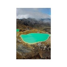 Volcanic lakes, New Zealand Rectangle Magnet