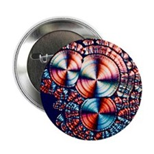 "Vitamin C, polarised light micrograph 2.25"" Button"