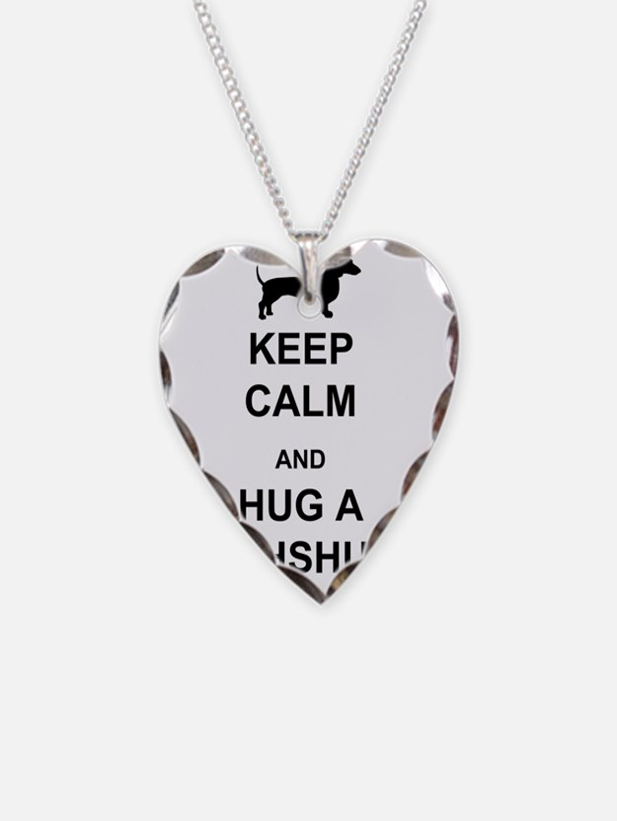 Dachshund - Keep Calm and Hug Necklace