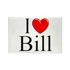 """""""I Love (Heart) Bill"""" Rectangle Magnet"""