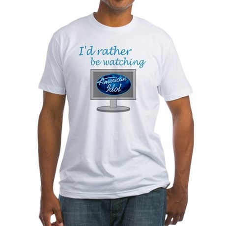 lc_ratherbewatching_idol Fitted T-Shirt