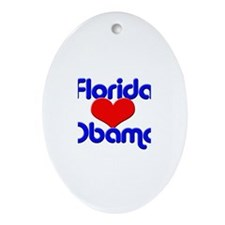 Florida for Obama Oval Ornament