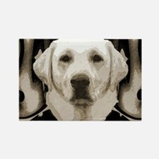 Yellow Lab Rectangle Magnet