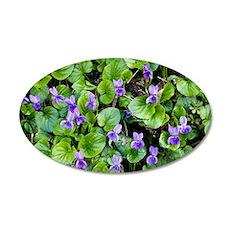 Viola odorata (Sweet Violets 35x21 Oval Wall Decal