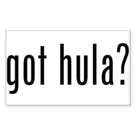 got hula? Rectangle Sticker