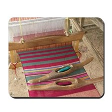 Various threads on weaving loom Mousepad