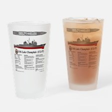 USS Lake Champlain (CG-57) Drinking Glass