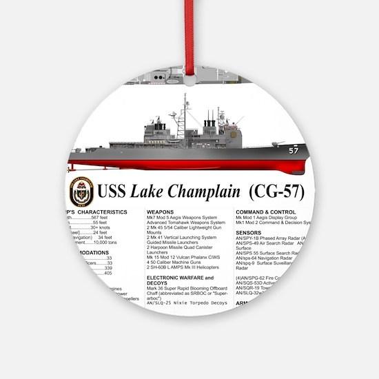 USS Lake Champlain (CG-57) Round Ornament