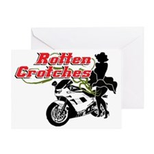 Rotten Crotches motorcycle club Greeting Card