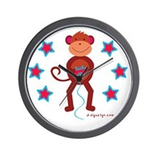 Monkey Plays Videogames Wall Clock