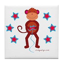 Monkey Plays Videogames Tile Coaster