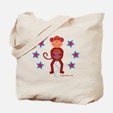 Monkey Plays Videogames Tote Bag