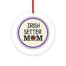 Irish Setter Dog Mom Ornament (Round)