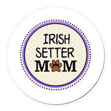 Irish Setter Dog Mom Round Car Magnet