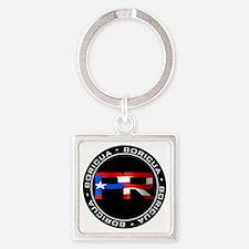 PR BORICUA Square Keychain