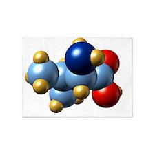 Valine, molecular model 5'x7'Area Rug