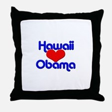 Hawaii For Obama Throw Pillow