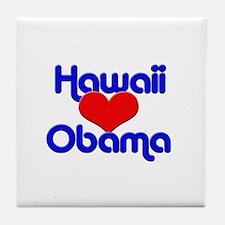 Hawaii For Obama Tile Coaster