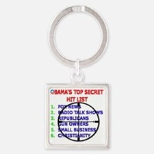 OBAMAS HIT LIST Square Keychain