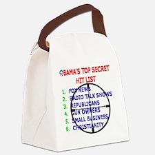 OBAMAS HIT LIST Canvas Lunch Bag