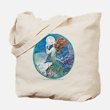 Art Deco Fantasy Pearl Mermaid Tote Bag