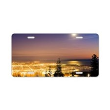 Vancouver at night, time-ex Aluminum License Plate