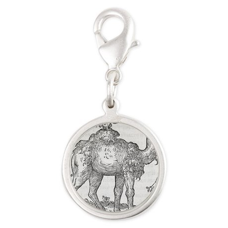 Urinating camel, 16th century Silver Round Charm