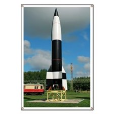 V-2 rocket display, Peenemunde Banner