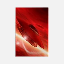 UFO, artwork Rectangle Magnet