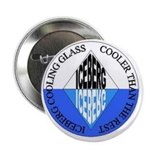 "Iceberg Cooling Glass - Coaster 2.25"" Button"