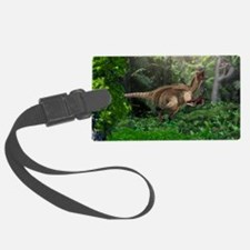 Utahraptor dinosaur, artwork Luggage Tag