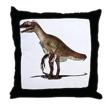 Utahraptor dinosaur Throw Pillow