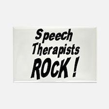 Speech Therapists Rock ! Rectangle Magnet (10 pack