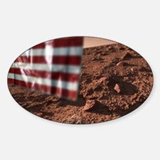 US flag on Mars, artwork Decal