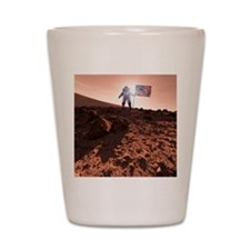 US exploration of Mars, artwork Shot Glass