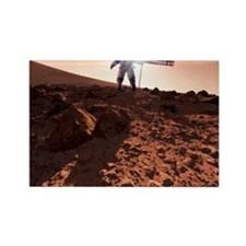 US exploration of Mars, artwork Rectangle Magnet