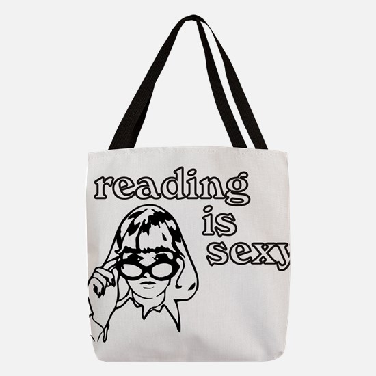Reading is Sexy Polyester Tote Bag