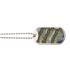 Unstable economy, conceptual image Dog Tags