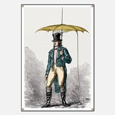 Umbrella fitted with lightning conductor Banner