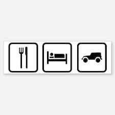 Eat Sleep Jeep Bumper Bumper Sticker
