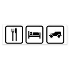 Eat Sleep Jeep Bumper Sticker