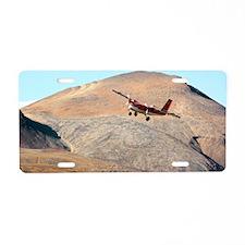 Twin Otter aircraft landing Aluminum License Plate