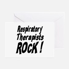 Respiratory Therapists Rock ! Greeting Cards (Pack