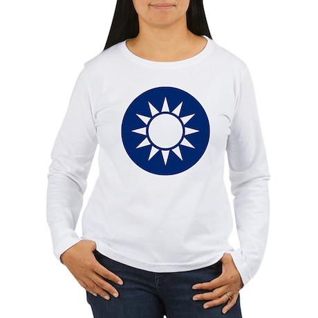 Taiwan Coat of Arms Women's Long Sleeve T-Shirt