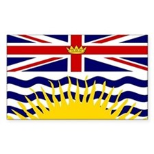 British Columbia Flag Sticker (Rectangul