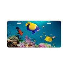 Tropical reef fish Aluminum License Plate