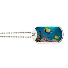 Tropical reef fish Dog Tags
